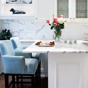 Blue Bar Stools Contemporary Kitchen Exquisite