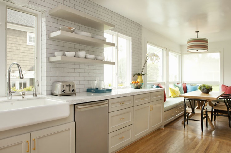 Light Gray Kitchen Cabinets Contemporary