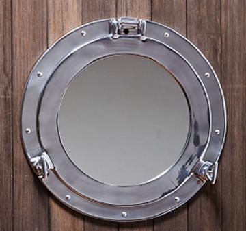 decor ships porthole mirror com quot aluminum dp wall finish nautical chrome amazon