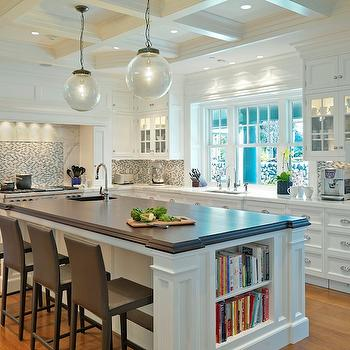 Island Cookbook Shelf, Transitional, kitchen, Jan Gleysteen Architects
