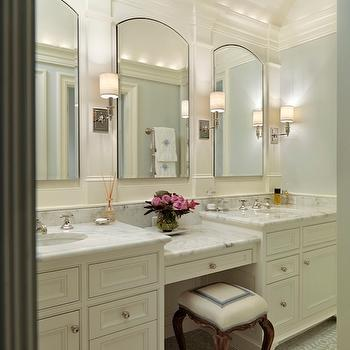 Built In Make Up Vanity Traditional Bathroom Ashley Goforth Design