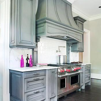 Gray Kitchen Cabinets, Transitional, kitchen, BHG