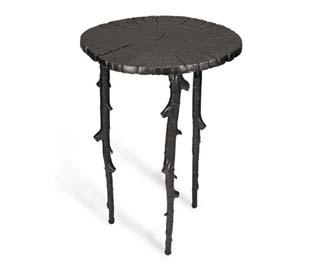 ENCHANTED FOREST SIDE TABLE OXIDIZED, @MICHAELARAMINC OFFICIAL SITE