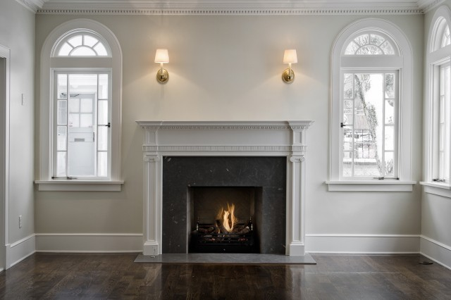 gray fireplace mantle - Black Fireplace Mantels