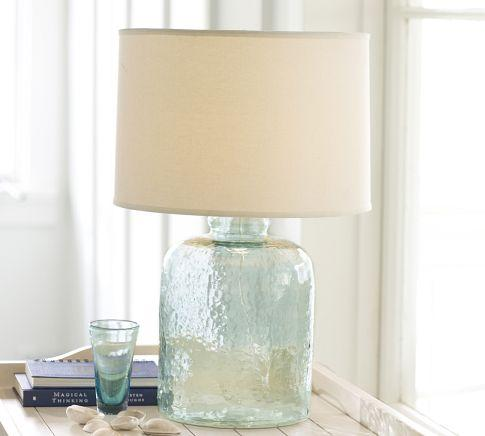 Glass table lamp base pottery barn devin glass table lamp base pottery barn aloadofball Image collections