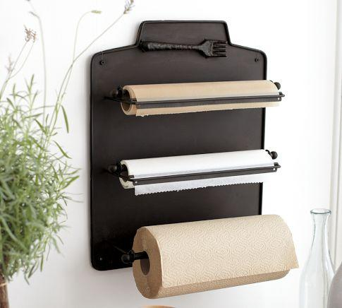 Cucina Wall-Mount Kitchen Roll Organizer - Pottery Barn