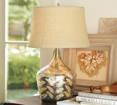 Etched Fern Mercury Glass Table Lamp Pottery Barn