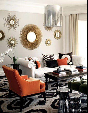 accent mirrors living room. Living Room
