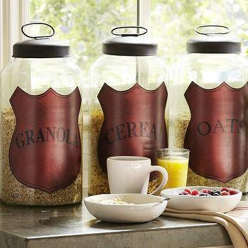 Breakfast Glass Canisters, Pottery Barn