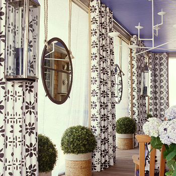 Purple Ceiling, Contemporary, deck/patio, Amanda Nisbet Design