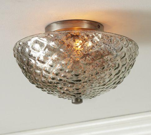 Hobnail Mercury Glass Flushmount Pottery Barn