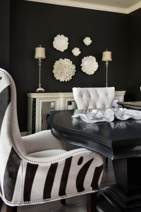 Paint gallery blacks paint colors and brands design - Black walls in dining room ...