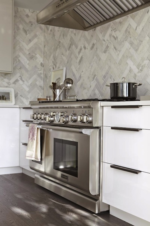 Herringbone Tile Contemporary Kitchen Croma Design