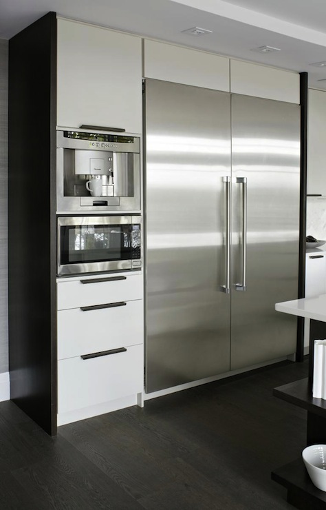 Built In Coffee Machine Contemporary Kitchen Croma