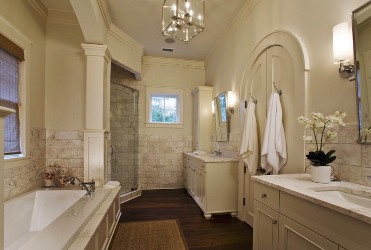 Arched French Doors - Traditional - bathroom - Herlong & Associates