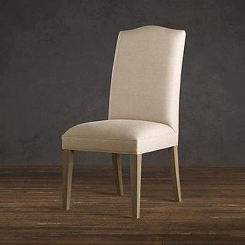 upholstered side chair upholstered chairs restoration hardware
