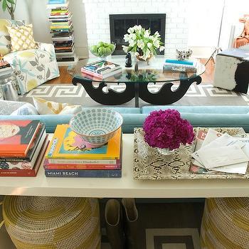 Greek Key Rug, Contemporary, living room, Furbish Studio