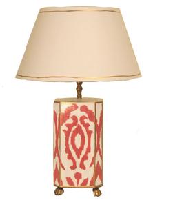 Pink Ikat Lamp