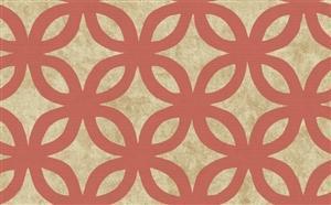 Geometric Wallpaper in Neutrals and Orange by Antonina Vella, Seabrook Designs, Seabrook Wallpaper, BurkeDecor.com