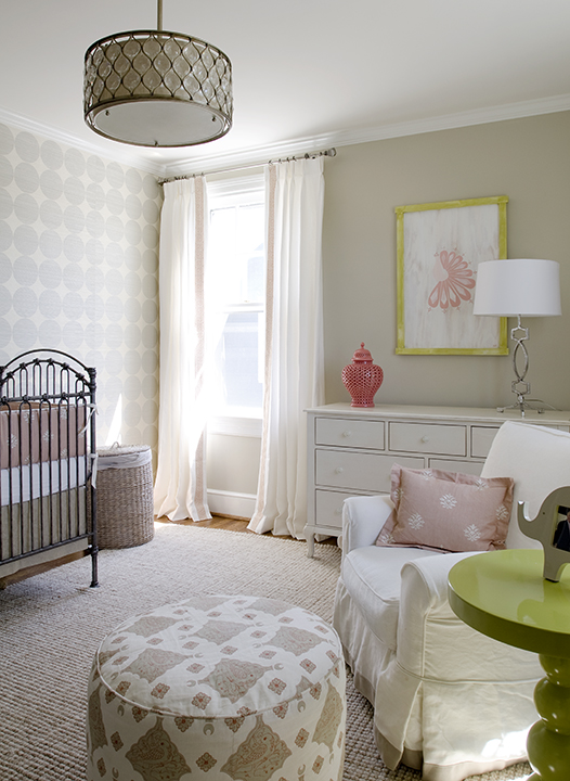 Pink And Beige Nursery