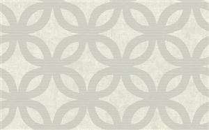 Geometric Wallpaper in Neutrals and Metallic by Antonina Vella, Seabrook Designs, Seabrook Wallpaper, BurkeDecor.com