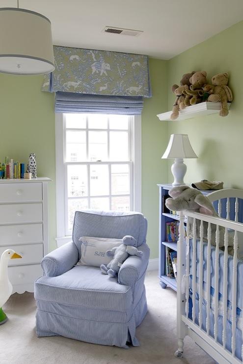 Blue Green Walls Design Ideas