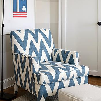Genial Chevron Print Chair