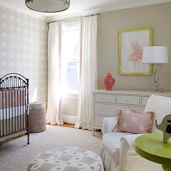 Pink and Beige Nursery, Transitional, nursery, Finnian's Moon Interiors