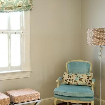 Turquoise Velvet Chair, Contemporary, nursery, Finnian's Moon Interiors