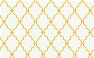 Trellis Wallpaper in Off-White and Yellow by Antonina Vella, Seabrook Designs, Seabrook Wallpaper, BurkeDecor.com