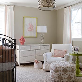Beige Nursery Walls, Transitional, nursery, Finnian's Moon Interiors