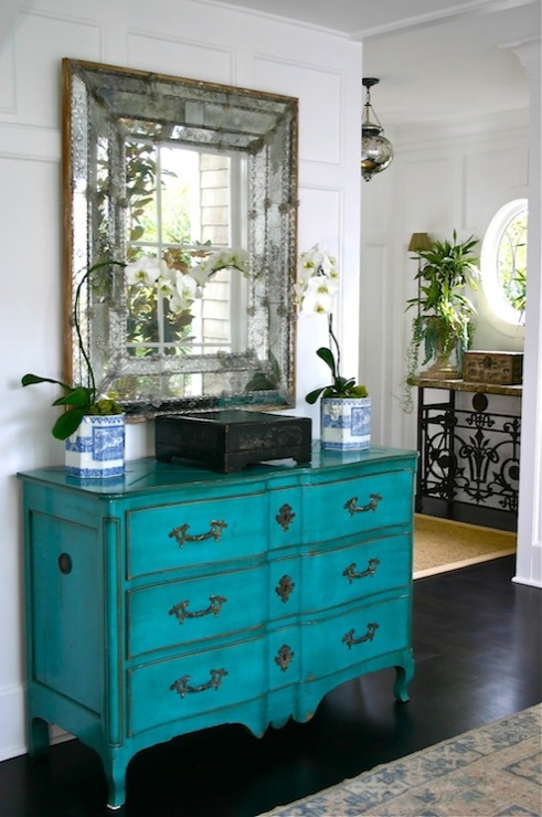Favorite Painted Accent Chest - Cottage - entrance/foyer - Classic Casual Home ET54