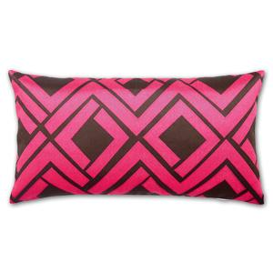 Avenida Maze Pillow in Pink & Brown by Trina Turk Modern Chic Home