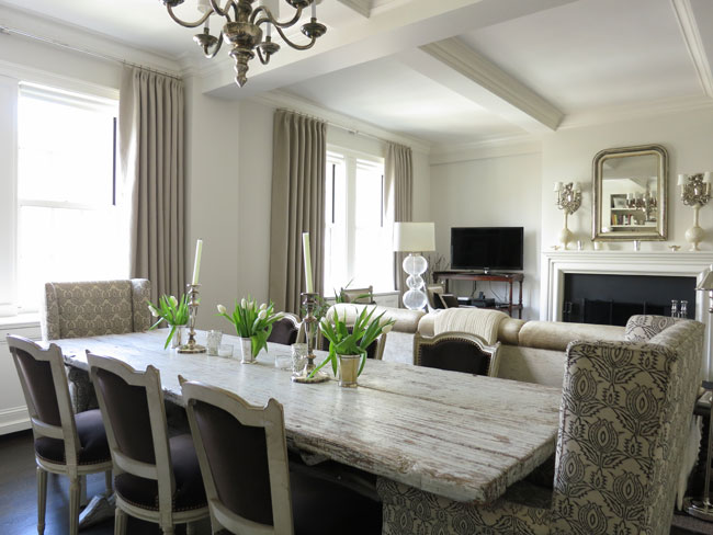 NY Social Diary Amazing Dining Room With Swedish Dining Table From