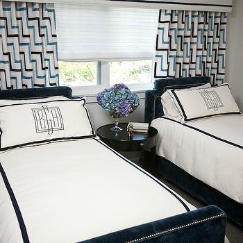 Navy Blue Headboards, Contemporary, boy's room, Andrea May Hunter Gatherer