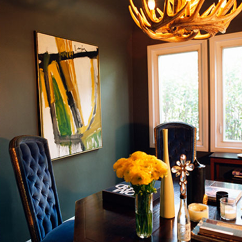 Antlers Chandelier View Full Size Glam Dining Room