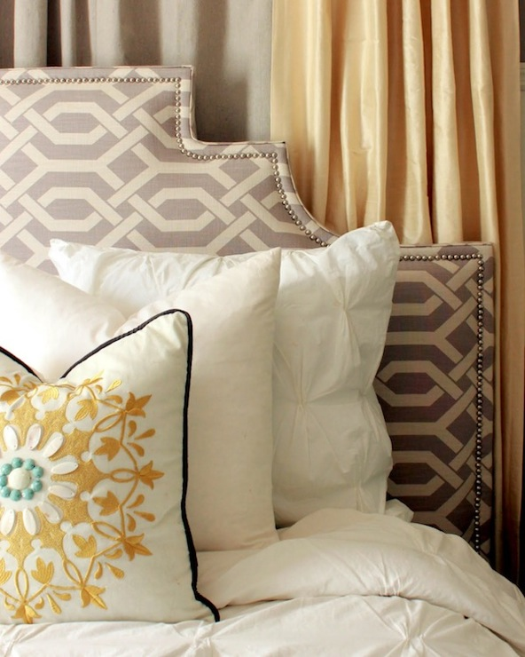 Trellis Headboard Contemporary Bedroom The Hunted