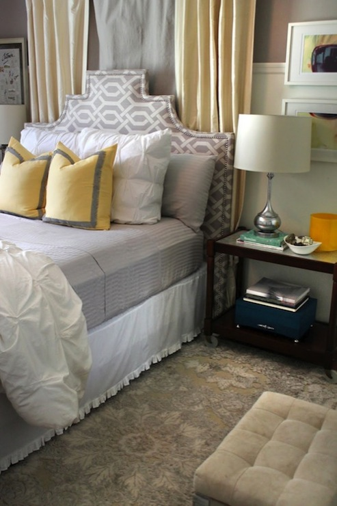gray and yellow bedroom contemporary bedroom the hunted interior
