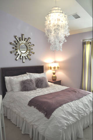 Mauve And White Bedroom
