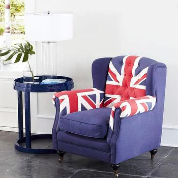 Union Jack Wingback Chair, Chairs, Wisteria