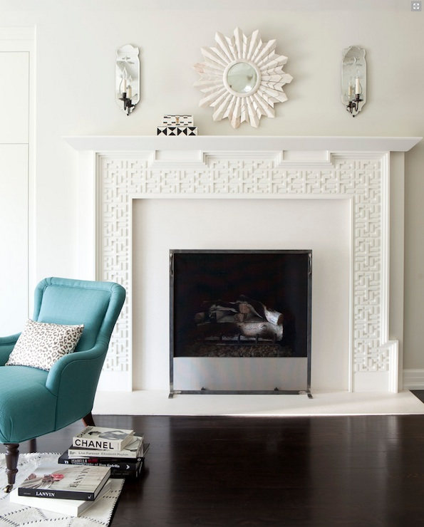 Mirrors Above Fireplace Contemporary Living Room Amy