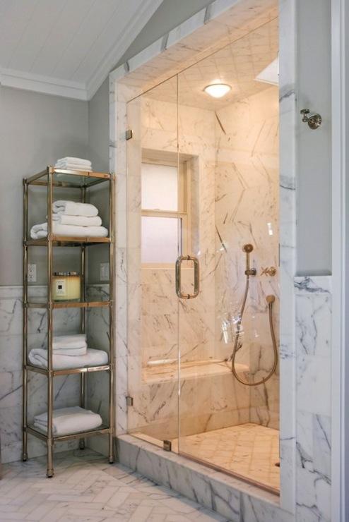 Herringbone Backsplash Contemporary Bathroom Jeff