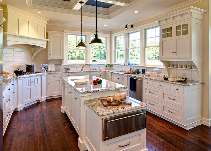 Polar Cream Granite Countertops - Traditional - kitchen - Duron ...