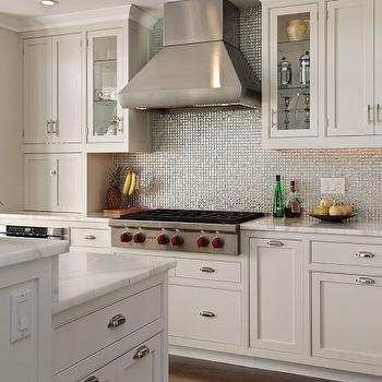 Silver Iridescent Tile Backsplash