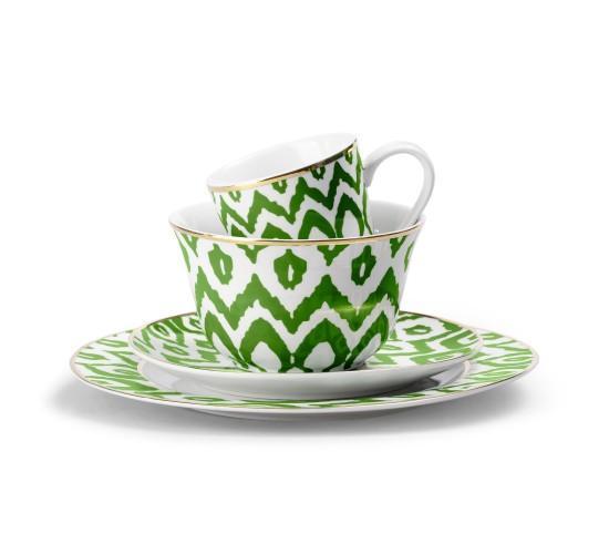 Green Ikat Dinnerware I C Wonder