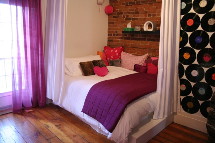 Girl S Room With Exposed Brick Wall