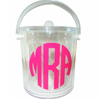 Design Darling home decor & monogrammed gifts Monogrammed Acrylic Ice Bucket