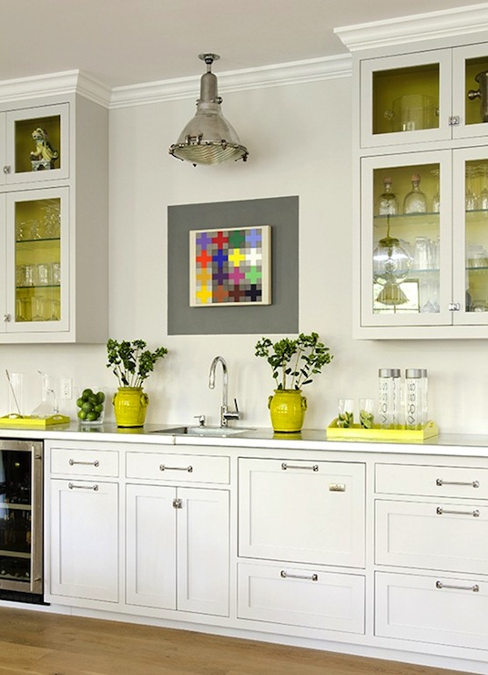 White Kitchen Yellow Cabinets yellow cabinets design ideas