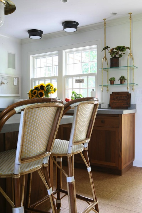 Enjoyable French Cafe Counter Stools Eclectic Kitchen Foley Cox Creativecarmelina Interior Chair Design Creativecarmelinacom