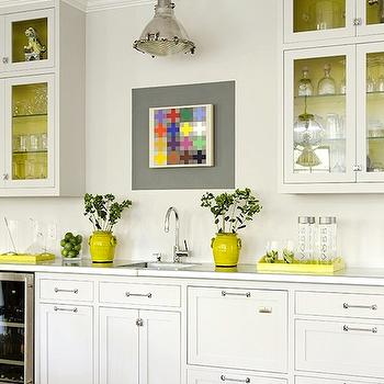 Yellow Accents, Contemporary, kitchen, James R. Salomon Photography